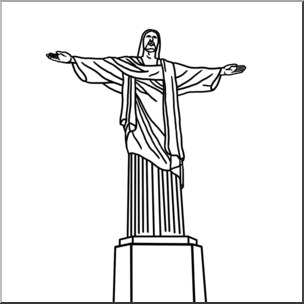 Christ brazil statue black and white clipart royalty free Christ The Redeemer Drawing at PaintingValley.com | Explore ... royalty free
