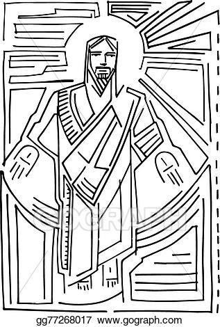 Christ resurrection clipart image free stock Vector Stock - Jesus resurrection c. Clipart Illustration gg77268017 ... image free stock
