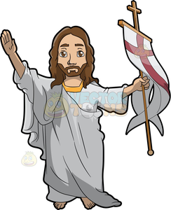 Christ resurrection clipart svg black and white Resurrected Jesus Clipart | Free Images at Clker.com - vector clip ... svg black and white