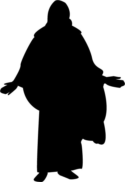 Christ silhouette clipart clip library library Mormon Share } Christ Silhouette   LDS Primary   Lds clipart ... clip library library
