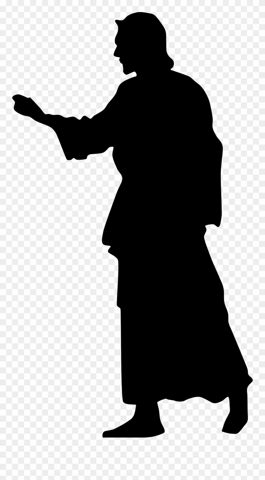 Christ silhouette clipart image freeuse stock Big Image - Jesus Christ Silhouette Png Clipart (#72803) - PinClipart image freeuse stock
