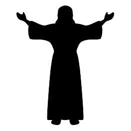 Christ silhouette clipart clip free library Jesus Silhouette   Sunday school bulletin boards   Silhouette, Jesus ... clip free library