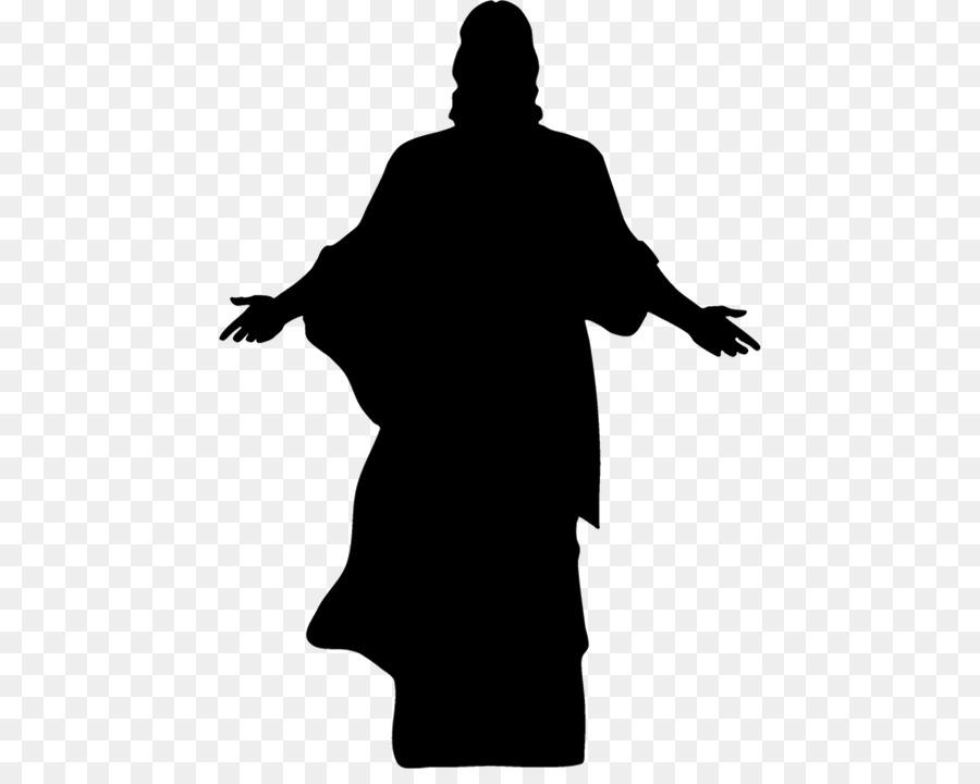 Christ silhouette clipart jpg black and white library Jesus Christ clipart - Silhouette, Graphics, Drawing, transparent ... jpg black and white library