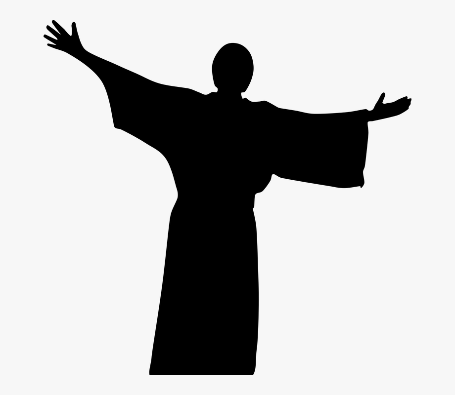 Christ silhouette clipart image black and white library Catholic Christ Christian Church Cross Crucifix - Silhouette Jesus ... image black and white library