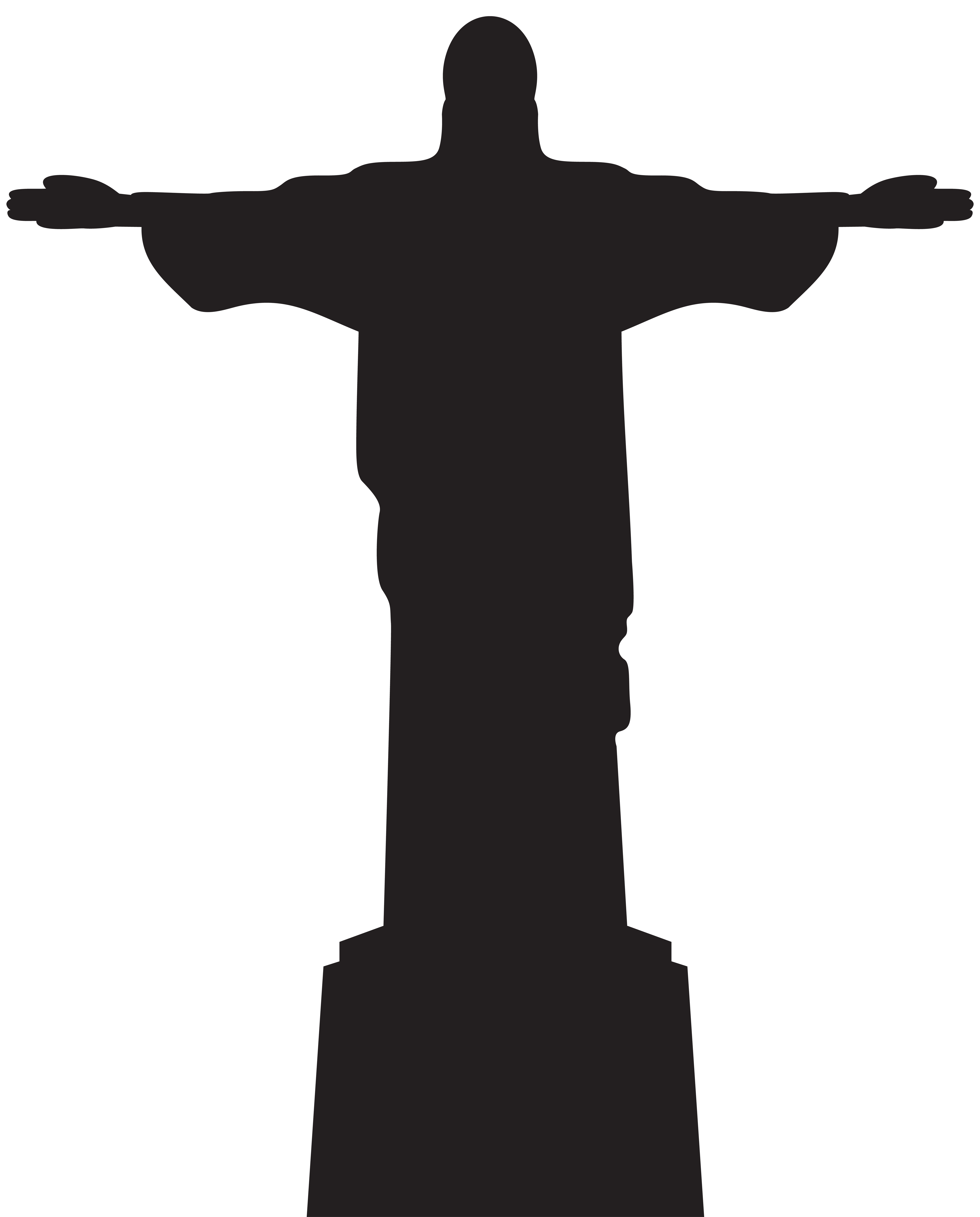 Christ silhouette clipart clipart library download Christ the Redeemer Corcovado Statue - Jesus Christ Statue ... clipart library download