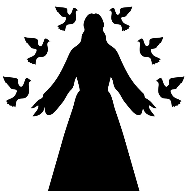 Christ silhouette clipart jpg royalty free download Jesus Christ Silhouette Free Stock Photo - Public Domain Pictures jpg royalty free download