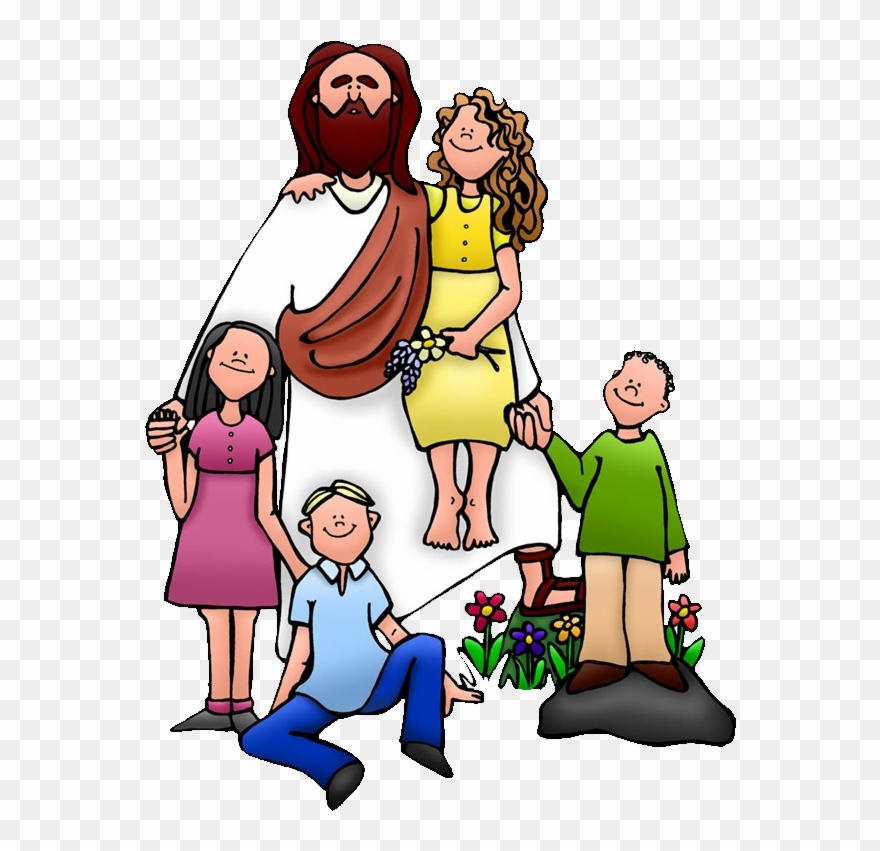 Christ with children clipart image black and white Teaching Of Jesus About Little Children Clip Art - Jesus With Kids ... image black and white