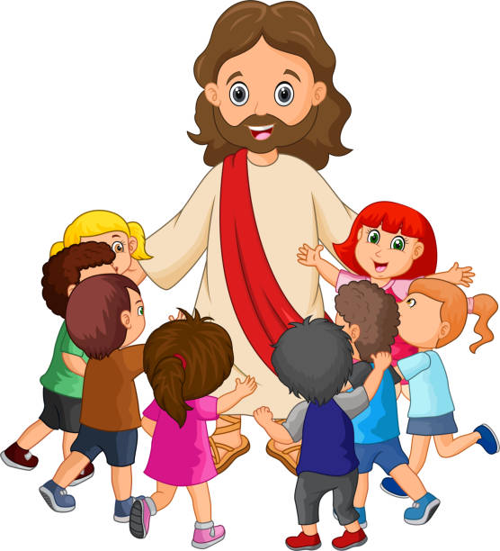 Christ with children clipart svg royalty free stock Stylish Jesus And Children Clip Art Charming Top 60 Background Of ... svg royalty free stock