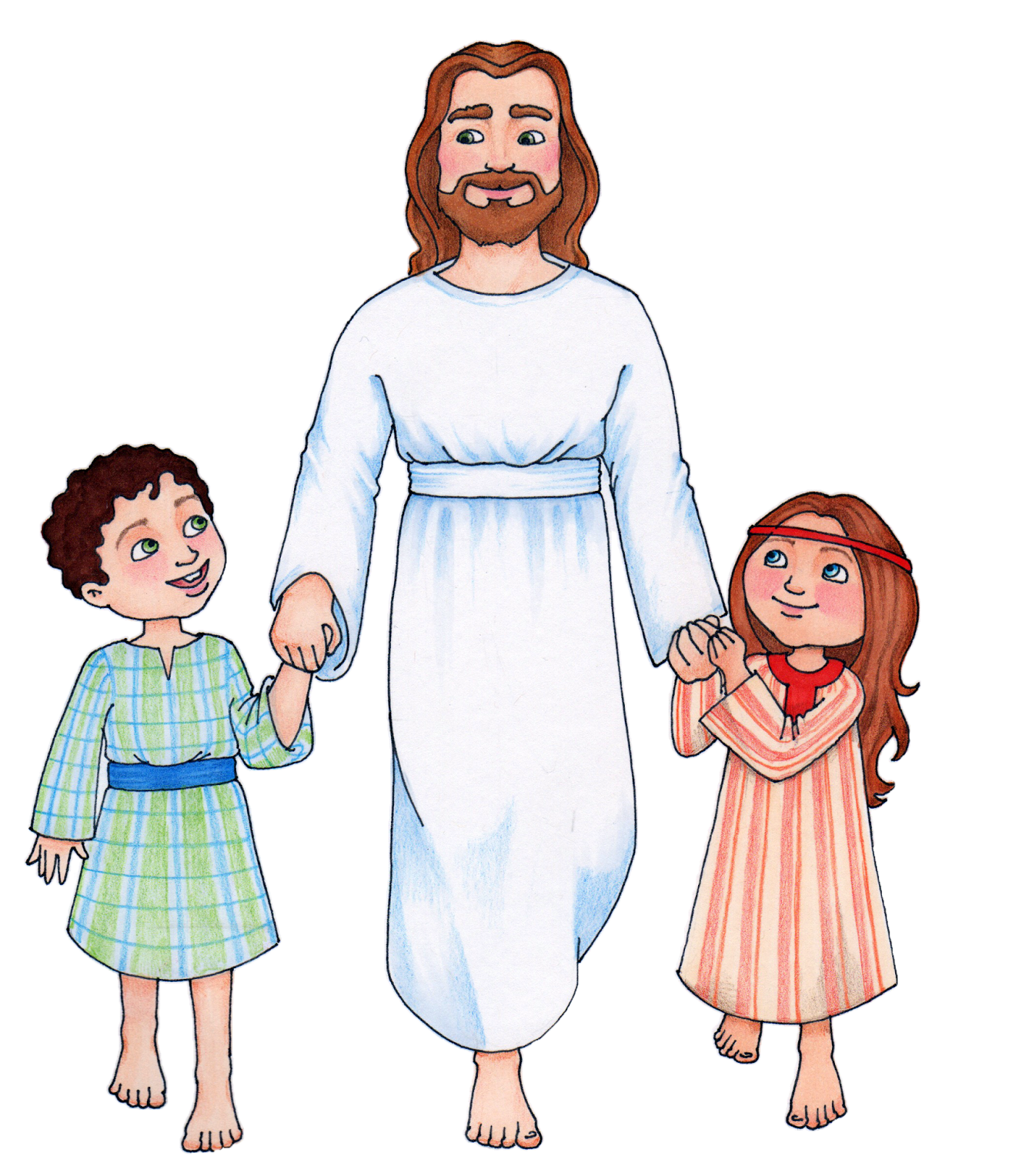 Christ with children clipart clipart transparent library Christ walking with Children CLICK HERE TO DOWNLOAD | Primary | Lds ... clipart transparent library