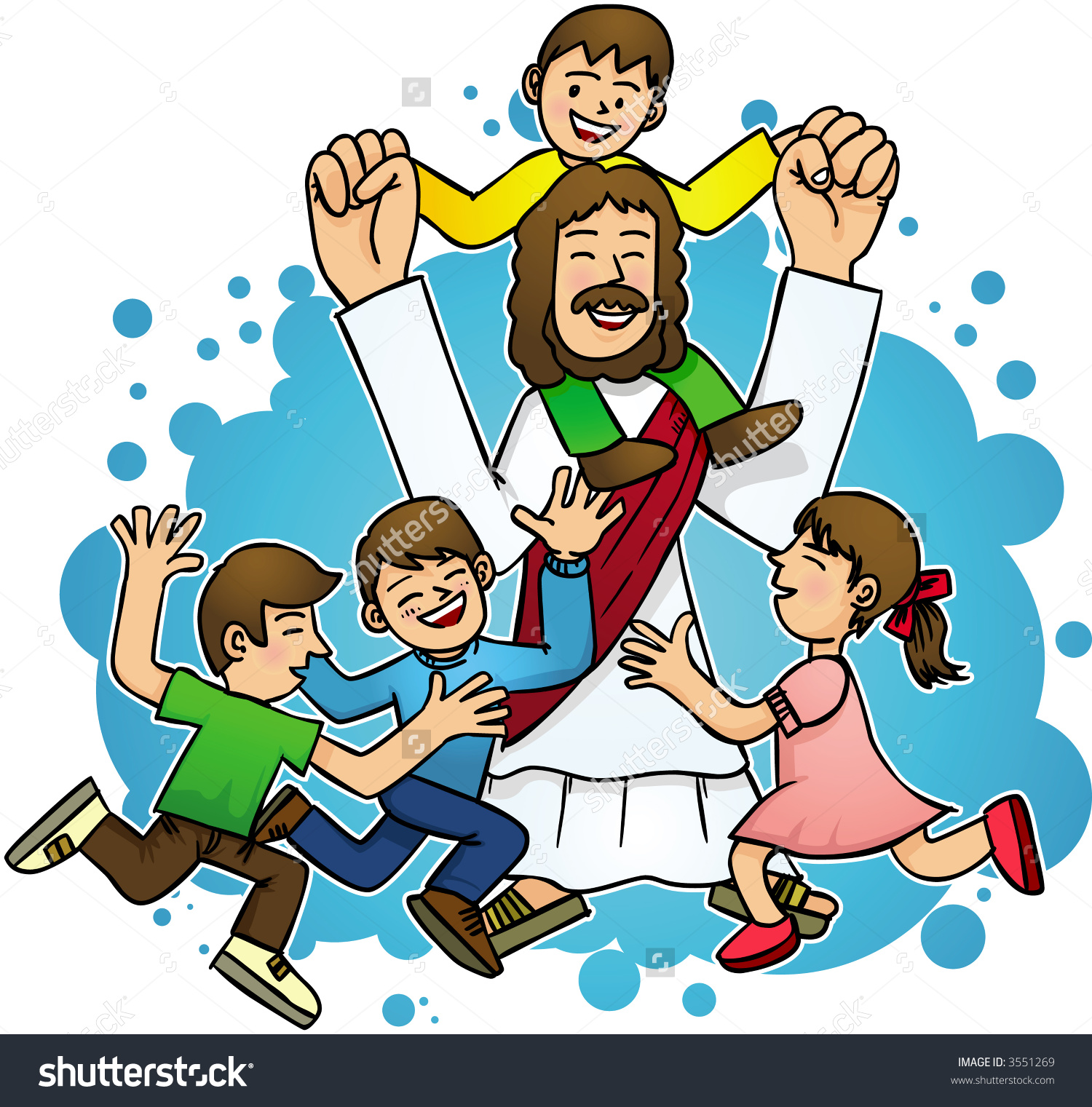 Christ with children clipart transparent stock Jesus with children clipart 7 » Clipart Station transparent stock