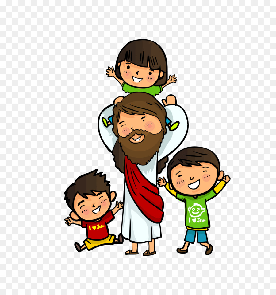 Christ with children clipart graphic library stock Jesus Christ png download - 1600*1695 - Free Transparent Bible png ... graphic library stock