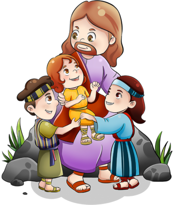 Christ with children clipart jpg library library Image: Jesus with Children | Christart.com jpg library library