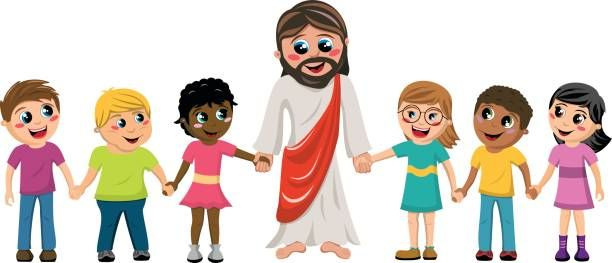 Christ with children clipart vector free library Free Of Jesus With Children Clip Art, Vector Images ... | Children\'s ... vector free library