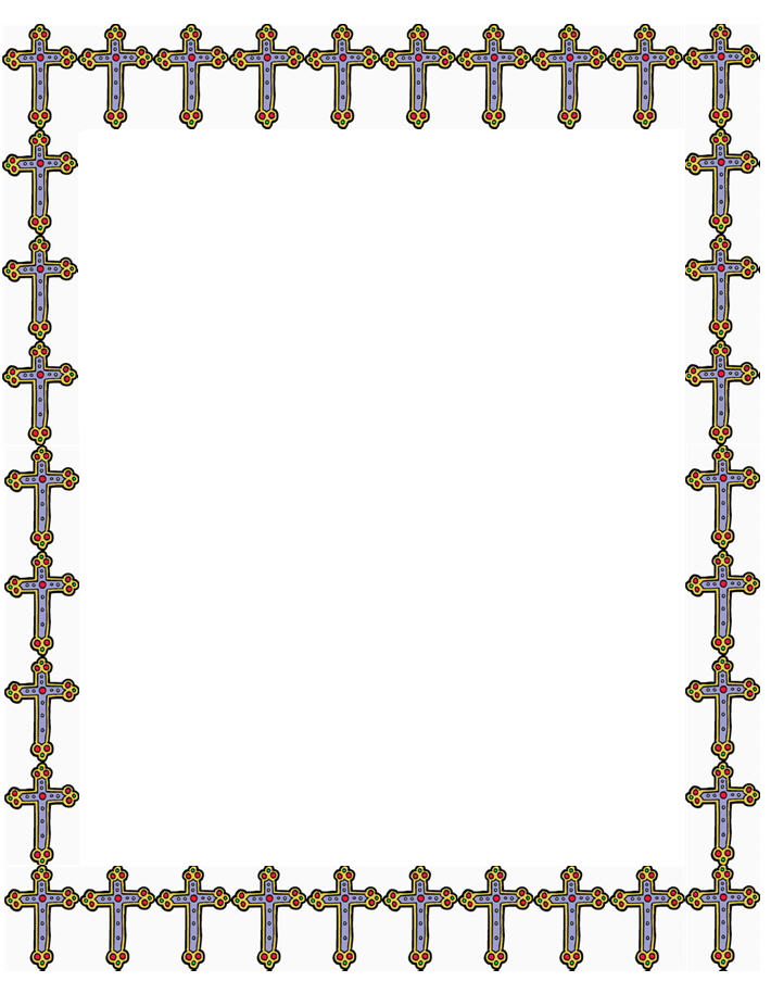 Christian border clipart free png black and white stock Religious Clipart Borders   Free download best Religious Clipart ... png black and white stock