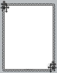 Christian certificate borders black and white clipart free picture free download Perfect for Sunday school, this printable Christian border is ... picture free download