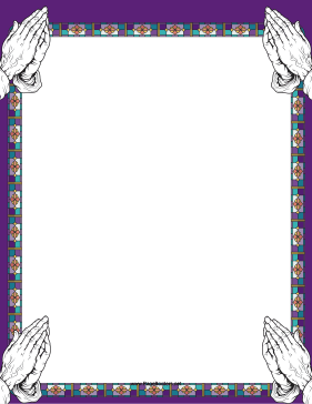 Christian border clipart free svg royalty free The corners of this printable, stained-glass border are decorated ... svg royalty free