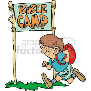 Christian camp clipart clip art freeuse Little boy runnig to bible camp clipart. Royalty-free clipart # 164812 clip art freeuse