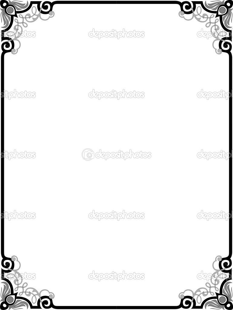 Christian certificate borders black and white clipart free vector black and white library 14 Christian Vector Borders Images - Abstract Vector Border Frame ... vector black and white library