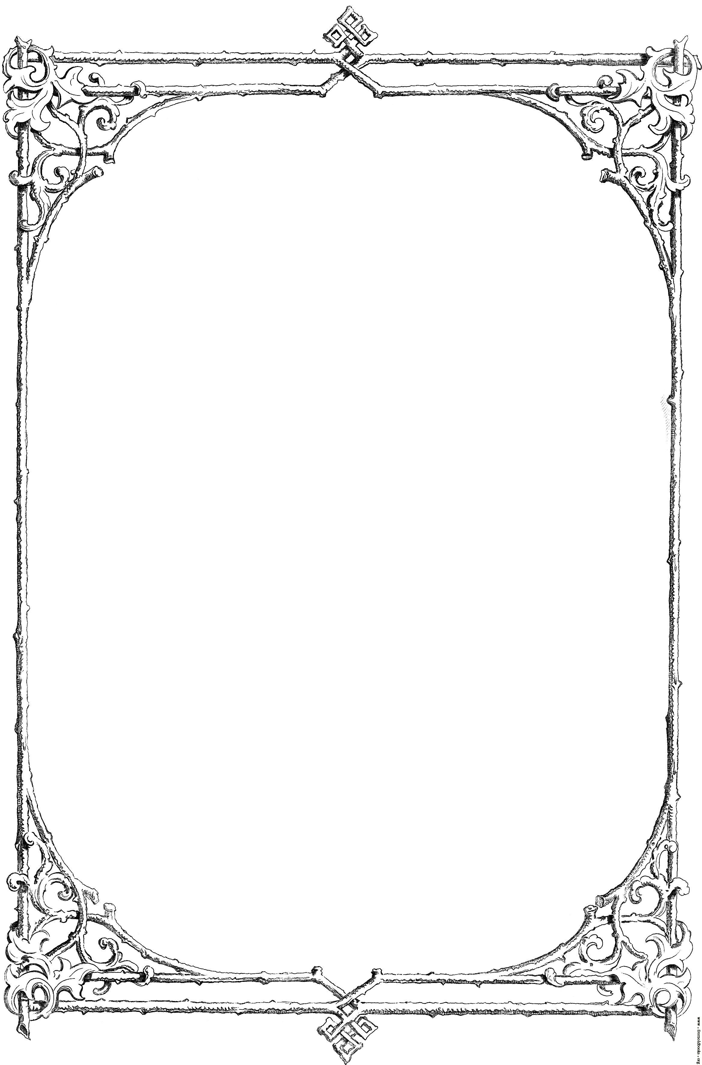 Old fashioned borders clipart image free library Free Black and White Borders religious | Free clip-art: Victorian ... image free library