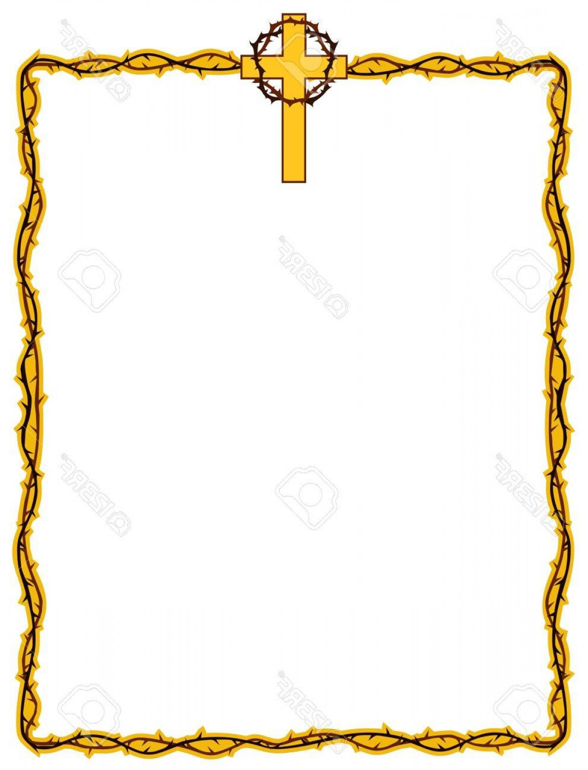 Christ clipart borders image free Religious Border Vectors | SOIDERGI image free