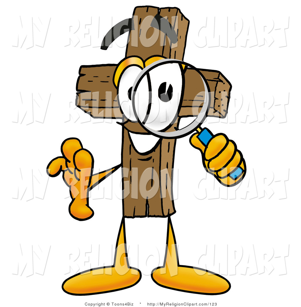 Christian character clipart clip art free Religion Clip Art of a Wooden Christian Cross Mascot Cartoon ... clip art free