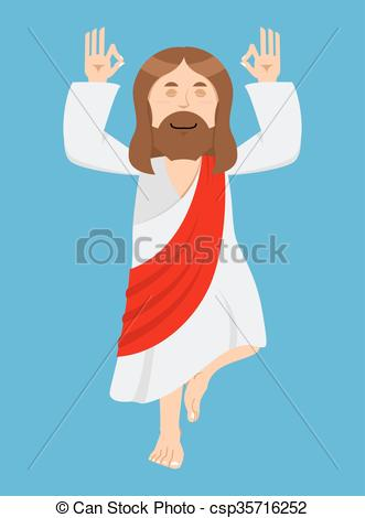 Christian character clipart image library stock Clipart Vector of Jesus Christ is engaged in yoga. Jesus in lotus ... image library stock