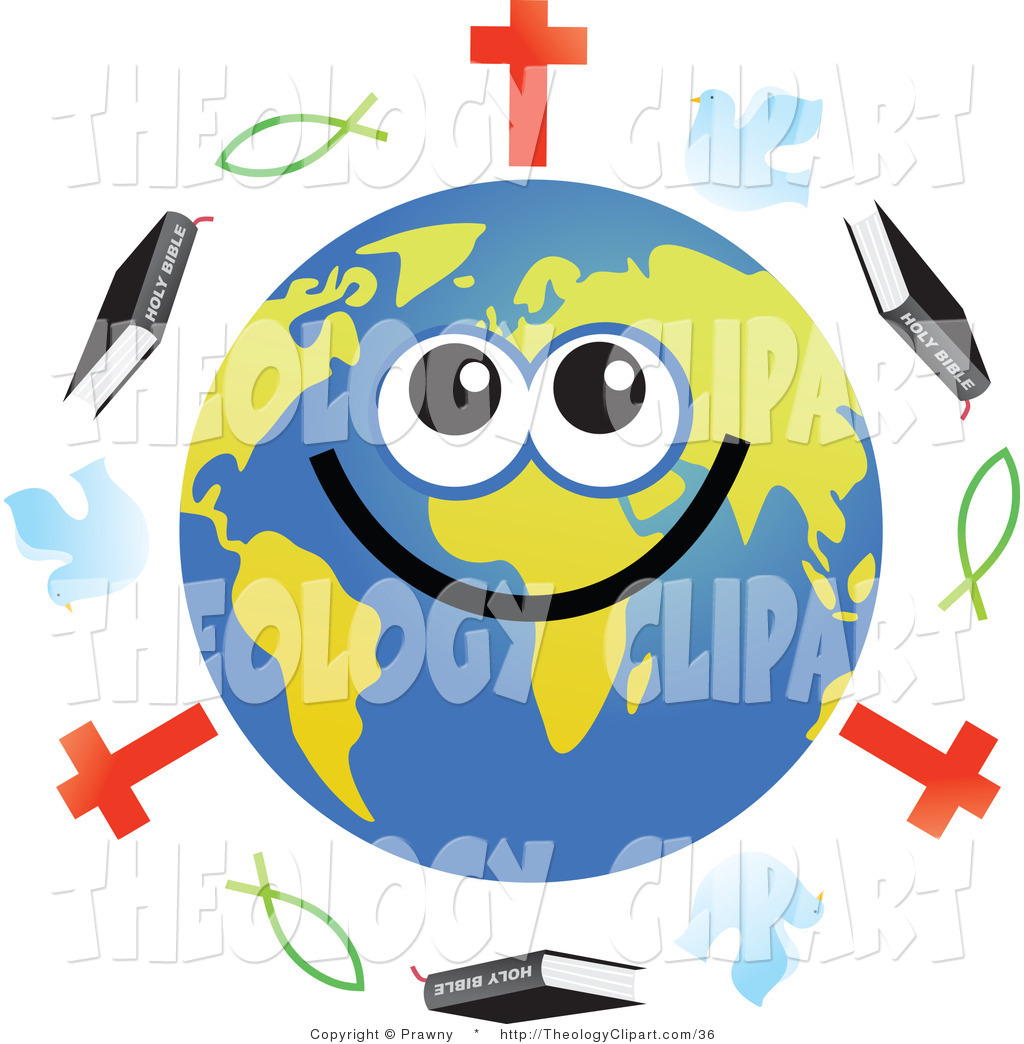 Christian character clipart picture freeuse stock Clip Art of a Global Face Character with Christian Religious ... picture freeuse stock