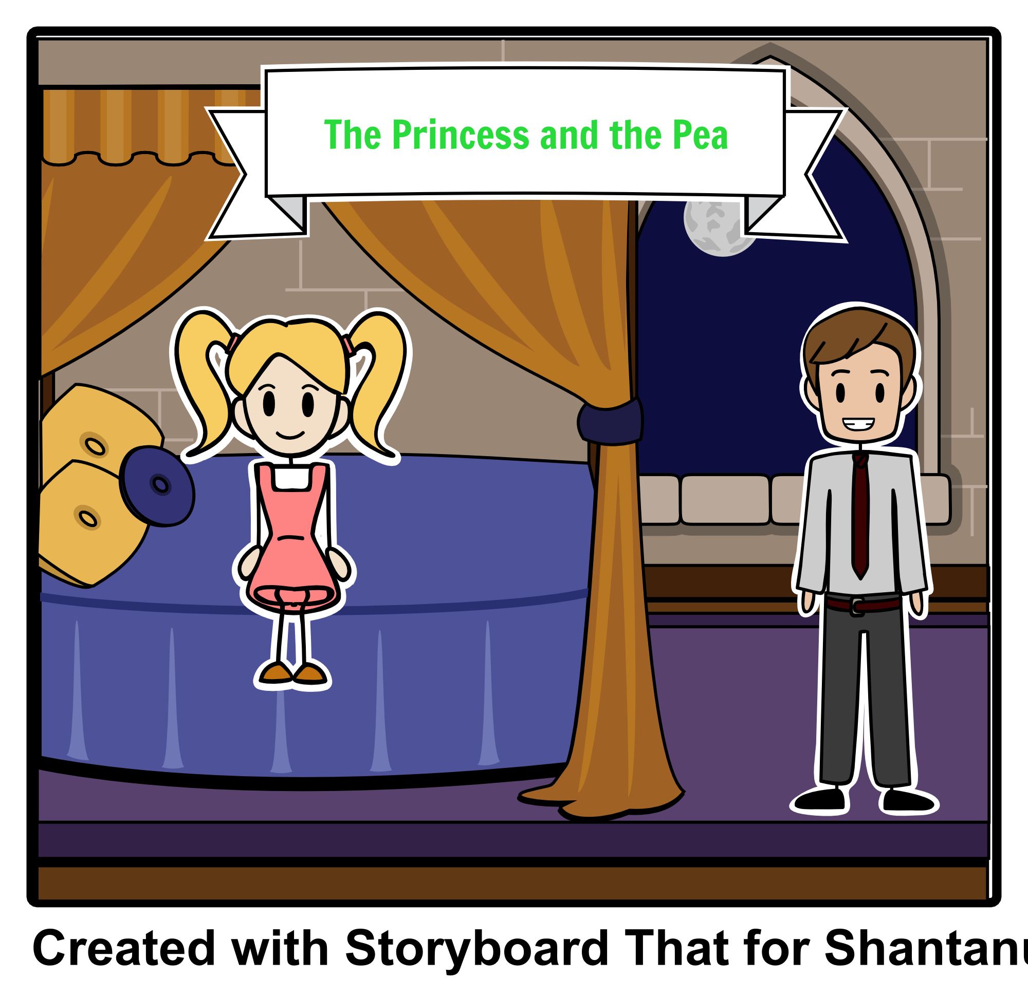 Main character traits clipart banner free The Princess and the Pea