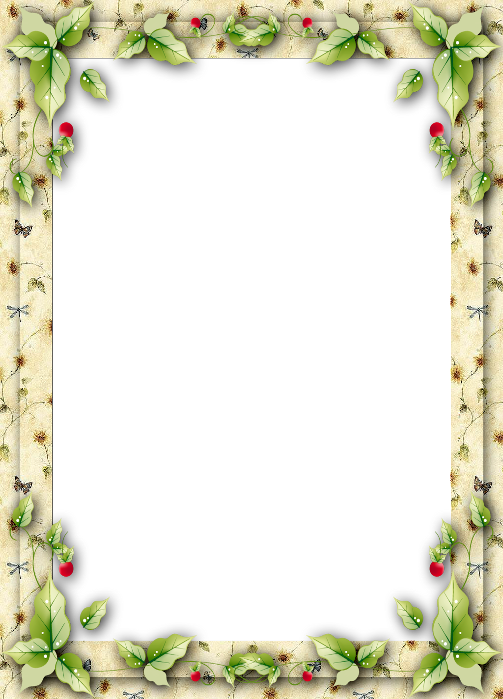 Free christmas clipart borders for word clipart freeuse download Christmas Frame with Mistletoe Leaves | Gallery Yopriceville - High ... clipart freeuse download