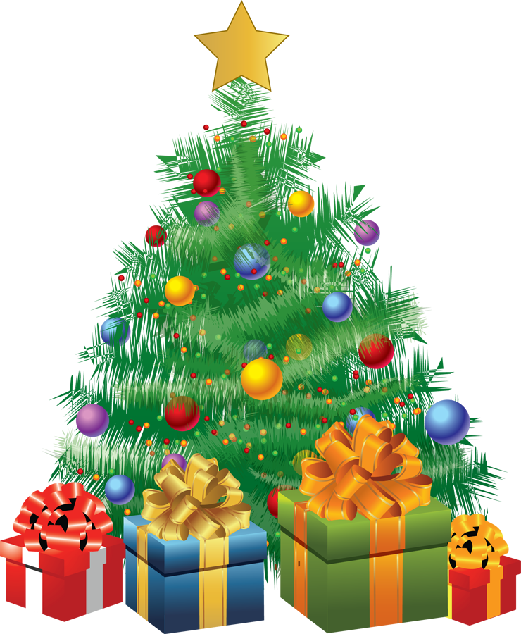 Clipart christmas tree with presents image library stock merry christmas tree clipart - Clipground image library stock