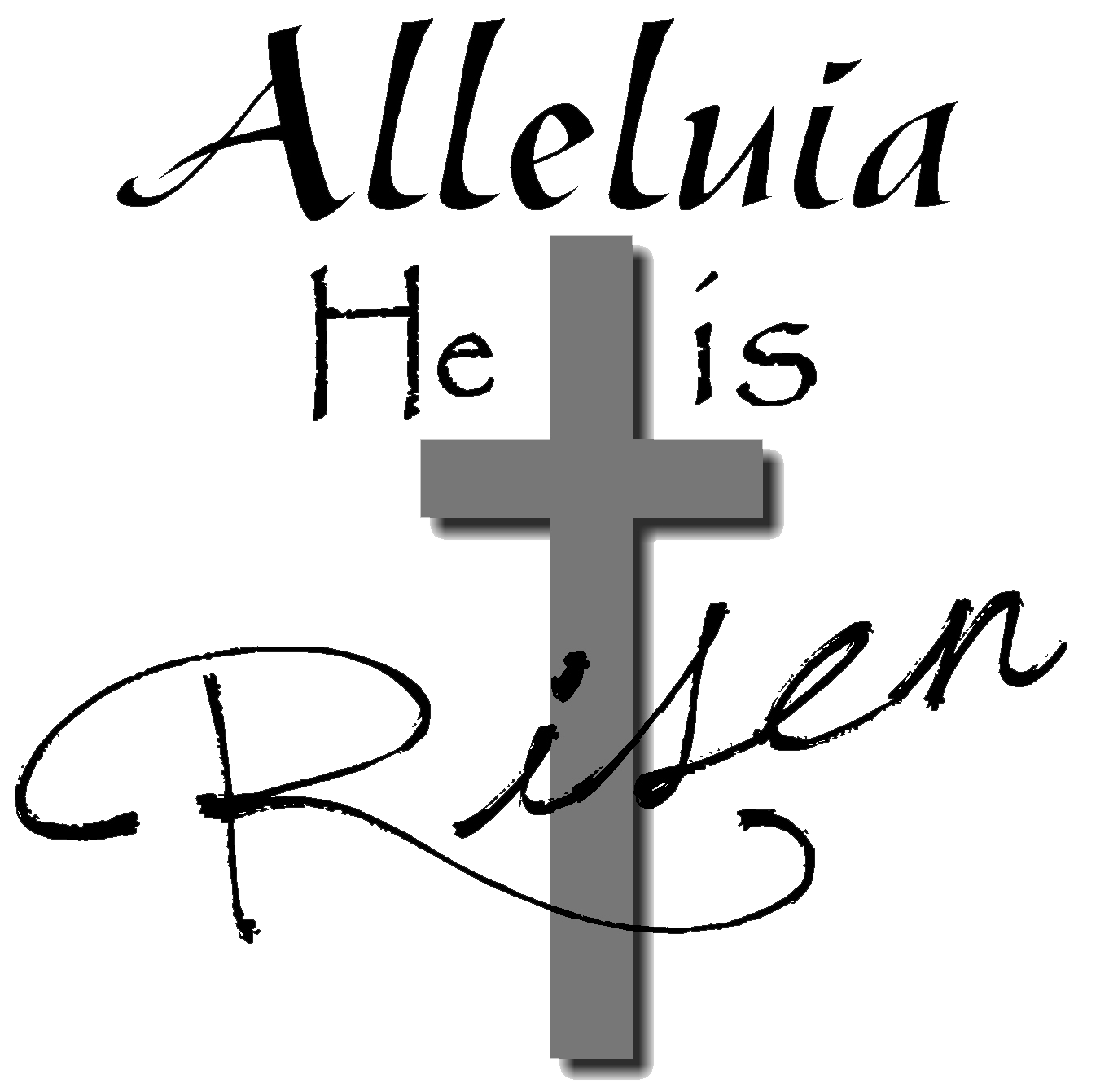 He is risen cross clipart svg royalty free stock Christian Easter Black And White Clipart – Happy Easter 2018 svg royalty free stock