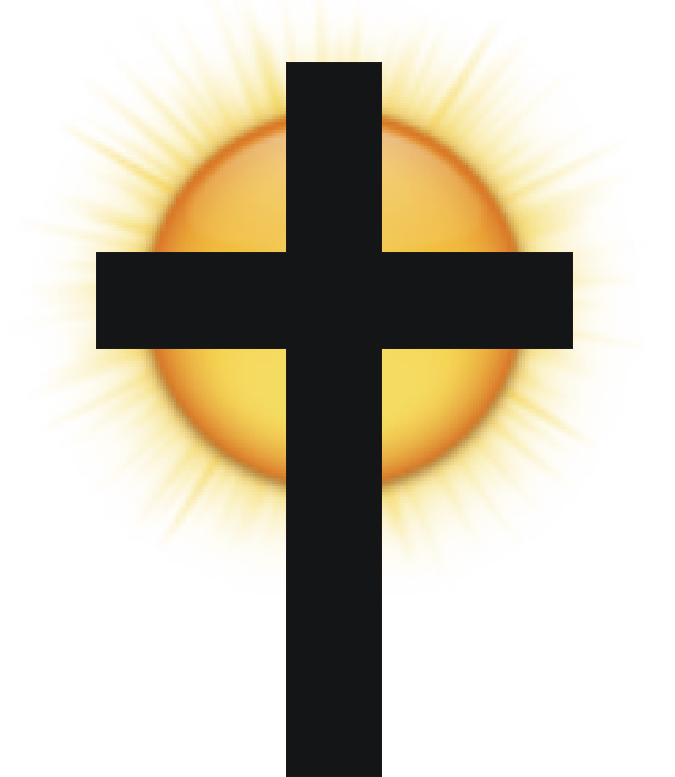 Cross with sunset clipart vector black and white library Free Cross Sun Cliparts, Download Free Clip Art, Free Clip Art on ... vector black and white library