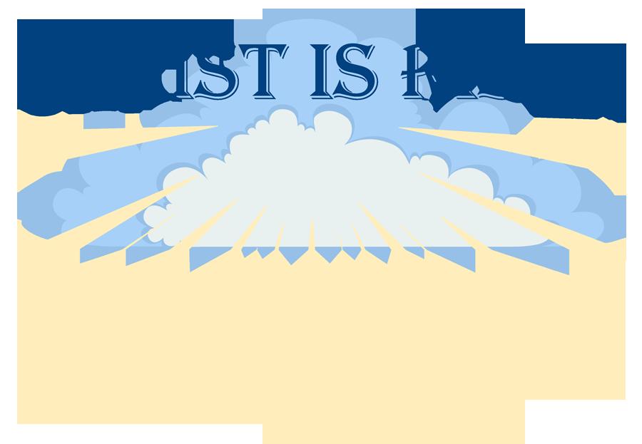 He is risen verse clipart