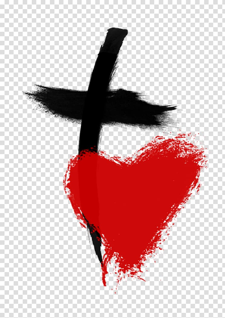 Christian clipart increasing in love for god graphic royalty free stock Red heart and black cross illustration, Bible God Christian cross ... graphic royalty free stock