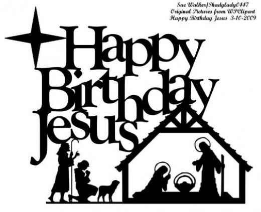 Christian clipart public domain black and white happy birthdayjesus graphic Jesus Birth Clipart Group with 68+ items graphic
