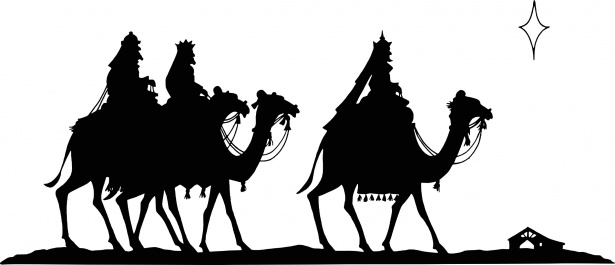 Christian clipart public domain black and white wise men vector black and white library Three Kings Free Stock Photo - Public Domain Pictures vector black and white library