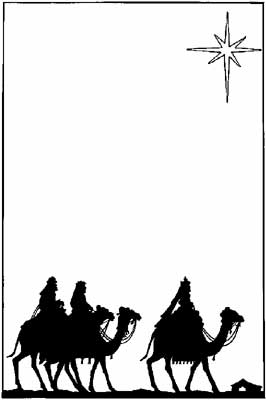 Wise men following star clipart public domain svg black and white library silhouette of the three wisemen riding their camels toward the star ... svg black and white library