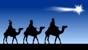 Christian clipart public domain black and white wise men royalty free library Three Wise Men clip art - vector clip art online, royalty free ... royalty free library