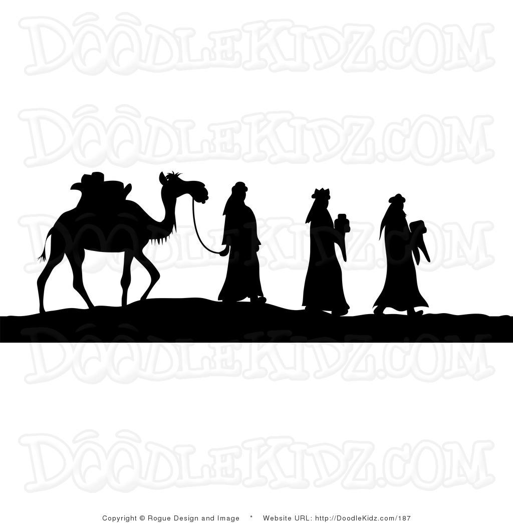 Christian clipart public domain black and white wise men vector transparent Nativity Clipart Black And White Free | Free download best Nativity ... vector transparent