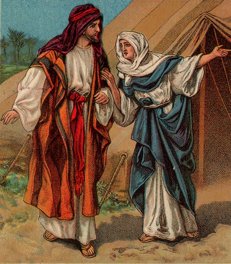 Christian clipart public domain jacob and esau vector free File:Jacob and Rebekah.jpg - Wikimedia Commons vector free