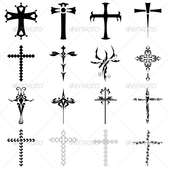 Christian clipart vector pack clip transparent library Christian Religious Symbol Cross Vector Pack clip transparent library