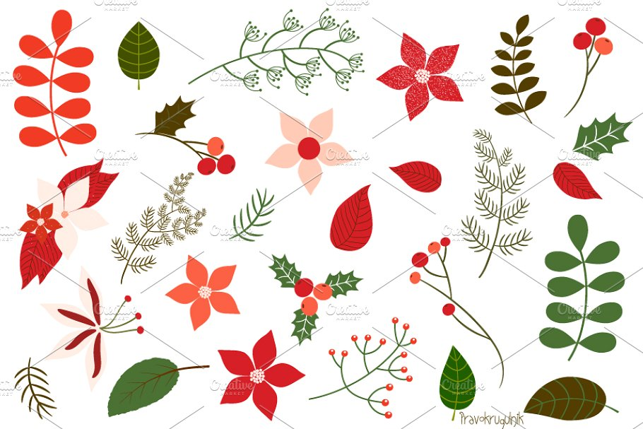 Christian clipart winter greenery picture freeuse download Christmas foliage, floral clipart picture freeuse download