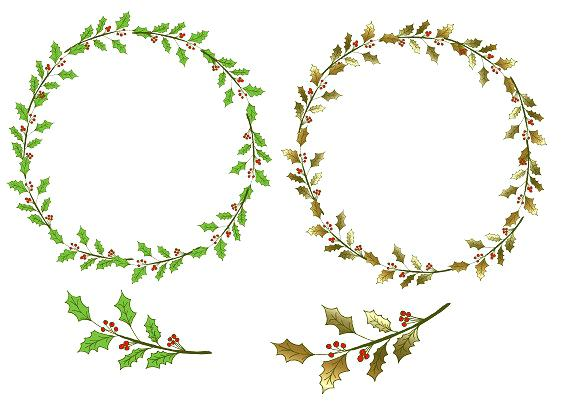Christian clipart winter greenery svg stock holly clipart – BeautyTouch svg stock