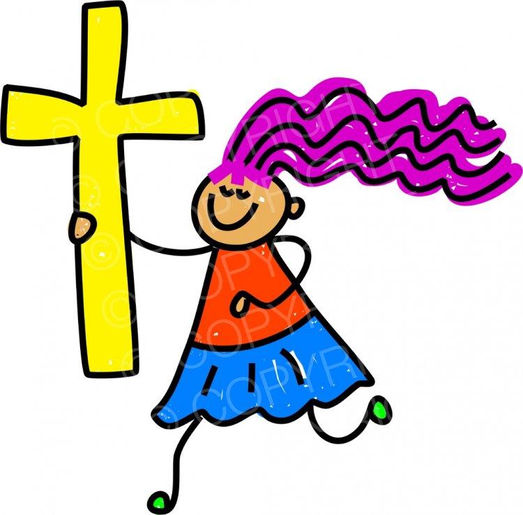 Christian cross children clipart banner library Toddler Art Christian Cross Kid Prawny Clipart – Prawny Clipart ... banner library