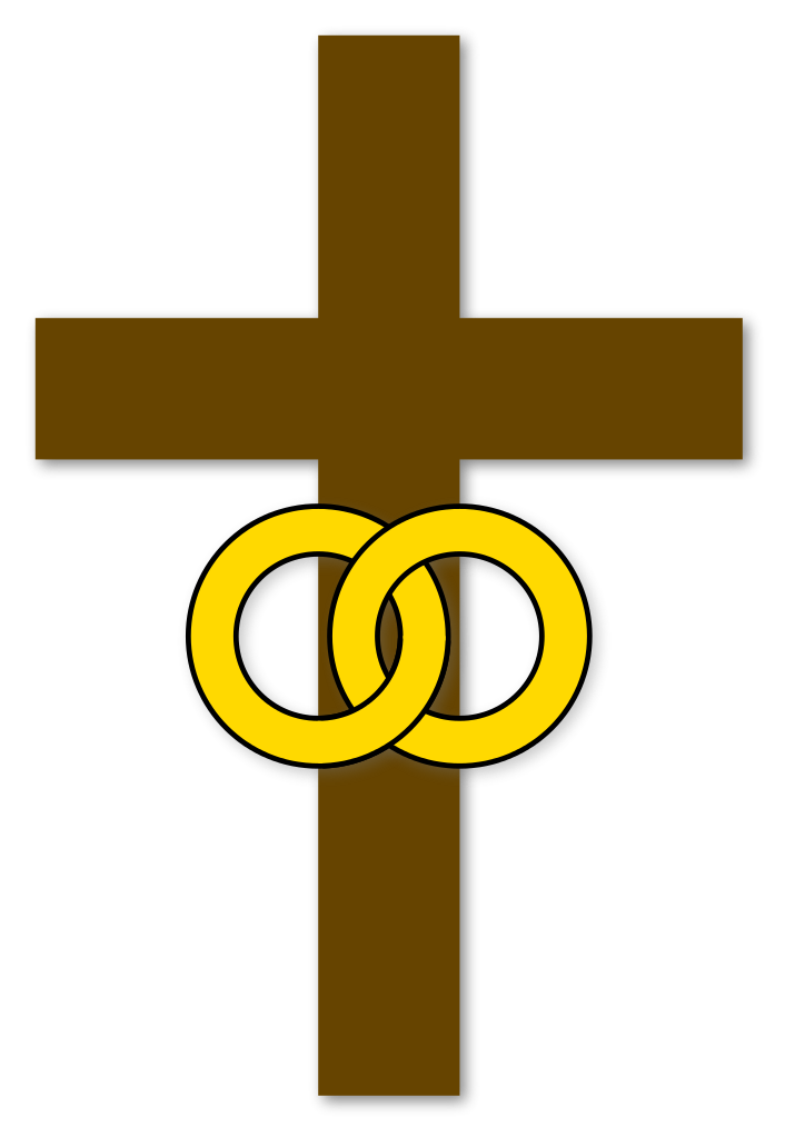Christian cross with flowers clipart svg royalty free File:Marriage-cross-Christian-symbol.svg - Wikimedia Commons svg royalty free