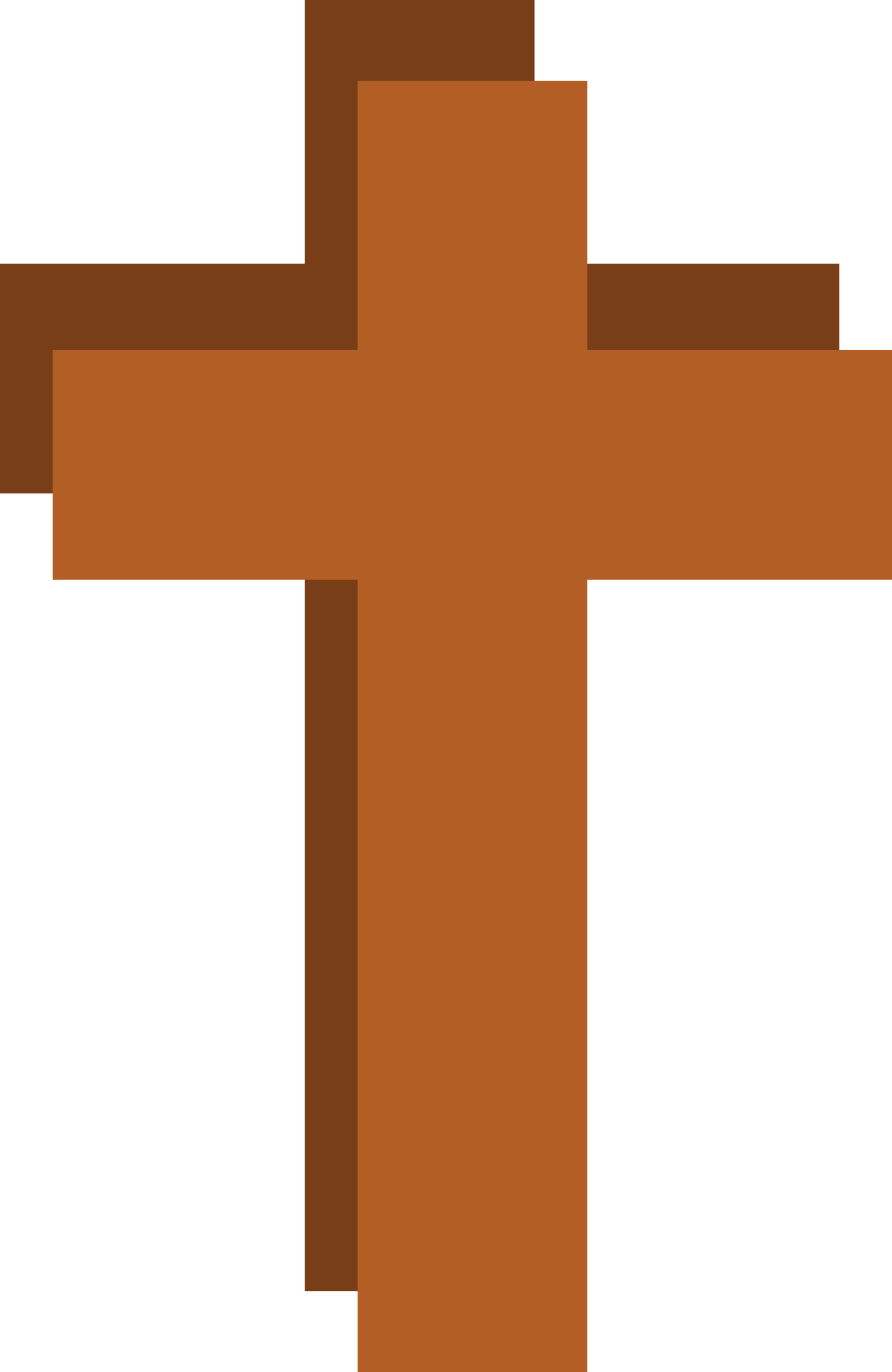 Stylized christian big image. Cross with shadow clipart