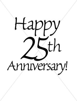 Christian happy anniversary clipart banner library stock Happy 25th anniversary clipart - ClipartFest banner library stock
