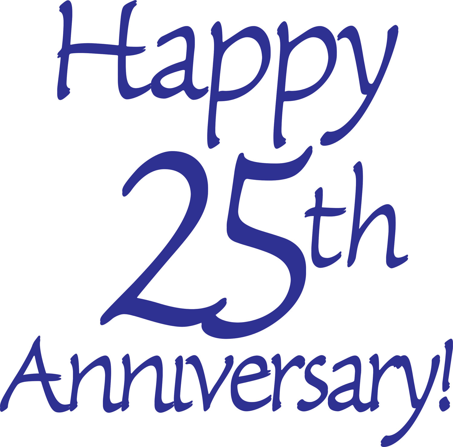 Christian happy anniversary clipart png black and white download Happy 25th anniversary clipart - ClipartFest png black and white download
