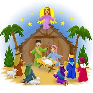 Free christmas clipart manger scene.  nativity clipartlook