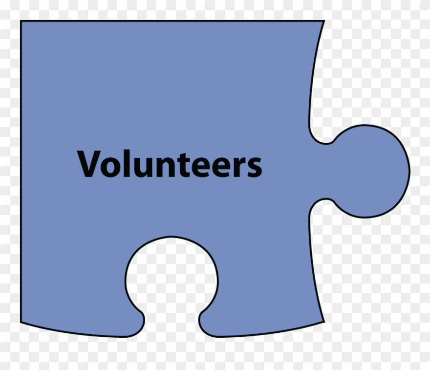 Christian puzzle clipart image black and white A Corner Puzzle Piece With The Word Volunteers Over - Corner Puzzle ... image black and white